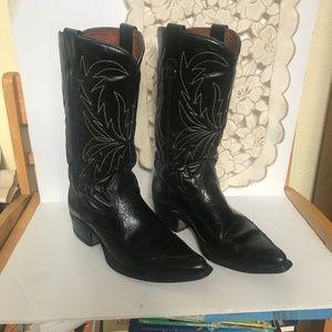 Vintage Men's Sears brand Black Cowboy Boots